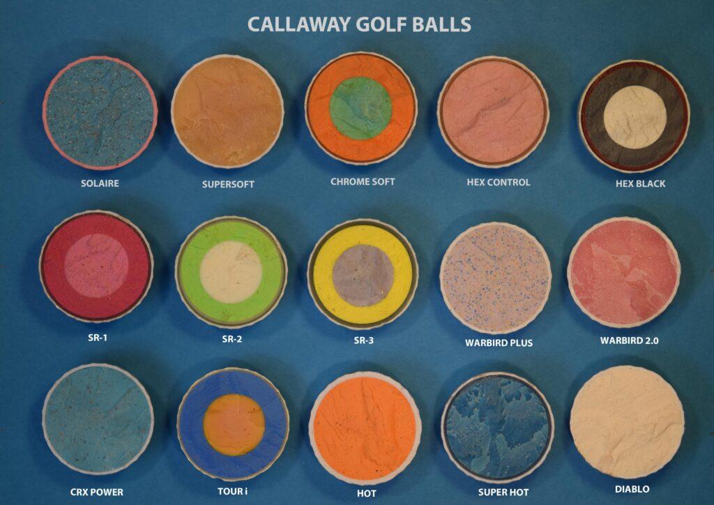 inside of callaway golf balls