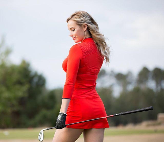 beautiful woman golfer