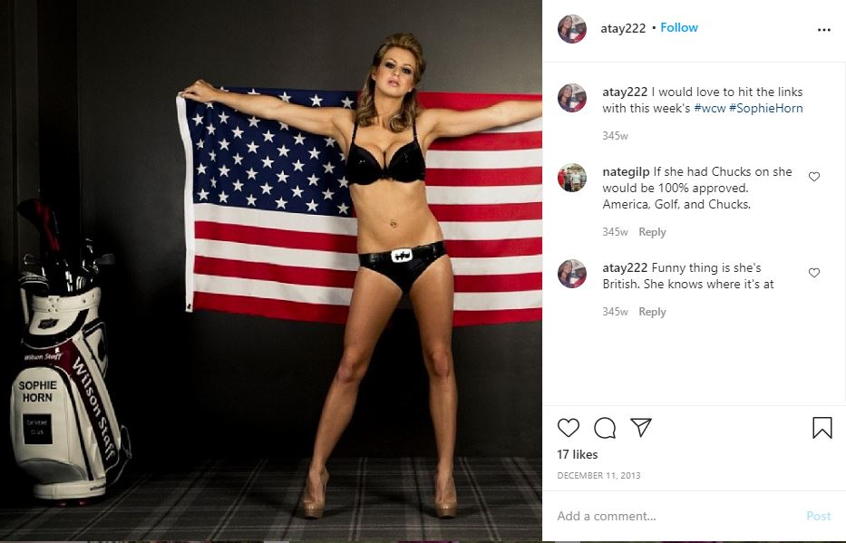 Sophie Horn with American Flag