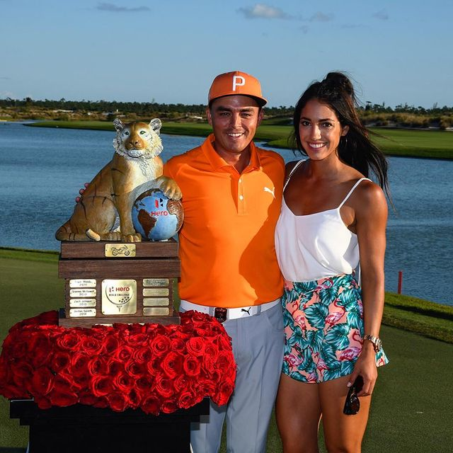Allison Stokke with Ricky Fowler